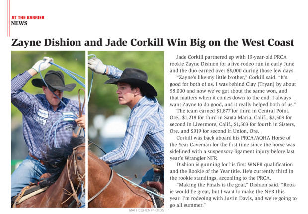 Spin to Win Rodeo - August 2013 - Jade Corkill & Zayne Dishion
