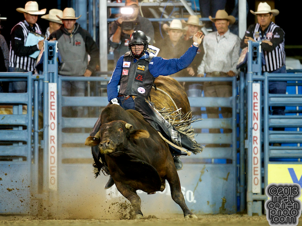 Bull rider Cody Teel of Kountze, TX rides Major Impact