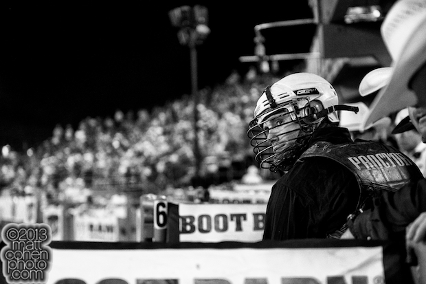 Bull rider Shane Proctor prepares to ride at the Reno Rodeo in Reno, NV.