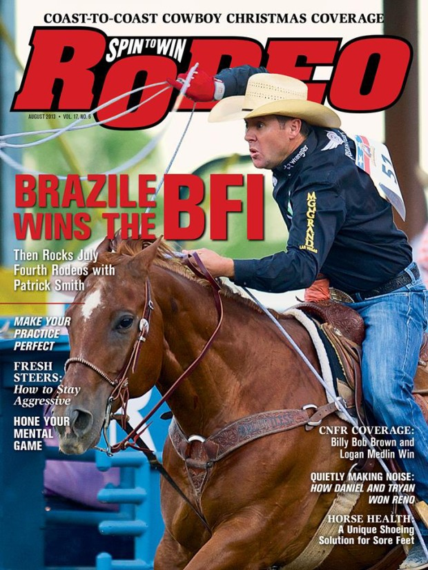 Spin to Win Rodeo - August 2013 - Trevor Brazile cover