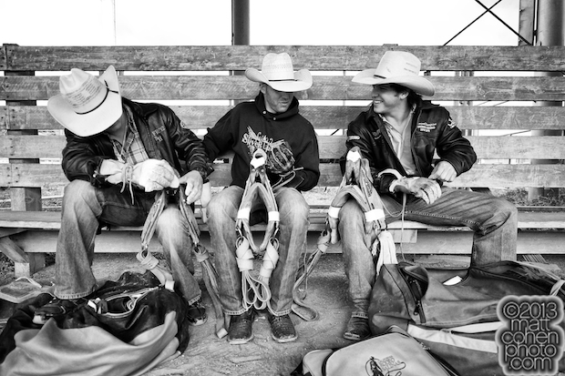 Taylor Price, Josi Young & Richie Champion at the California Rodeo in Salinas, CA.