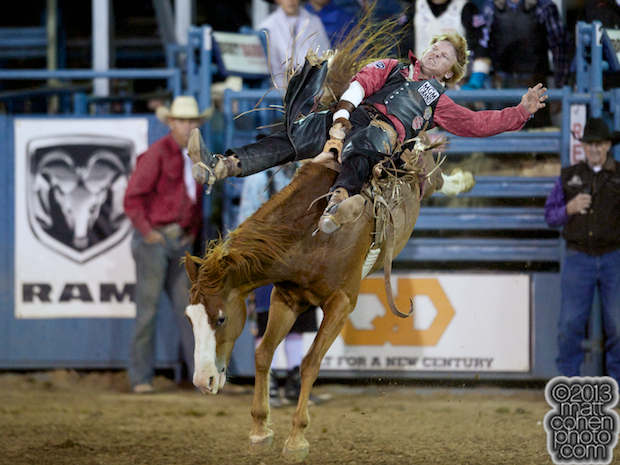 2013 NFR Bareback Riding Qualifier #5 - Wes Stevenson of Lubbock, TX