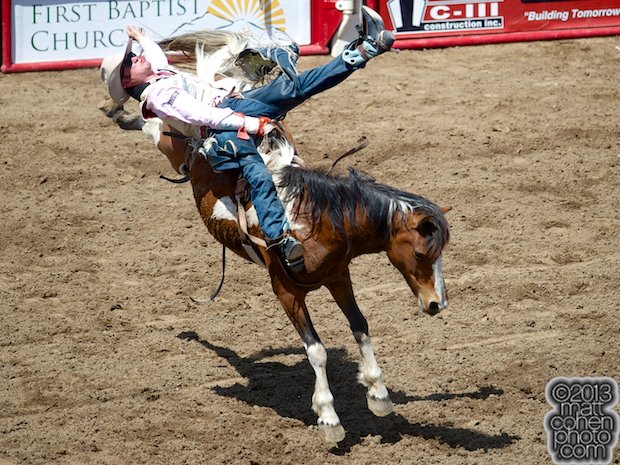 2013 NFR Bareback Riding Qualifier #8 - Steven Peebles of Redmond, OR