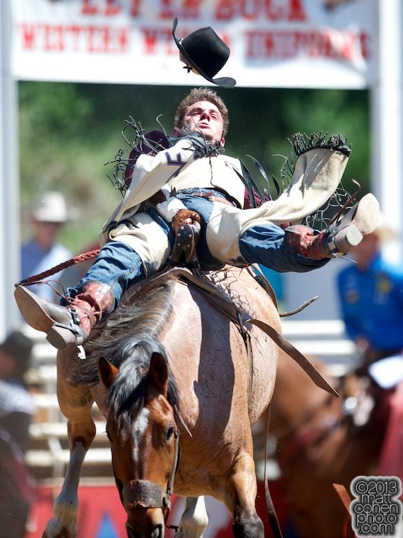 2013 NFR Bareback Riding Qualifier #9 - Austin Foss of Terrebonne, OR