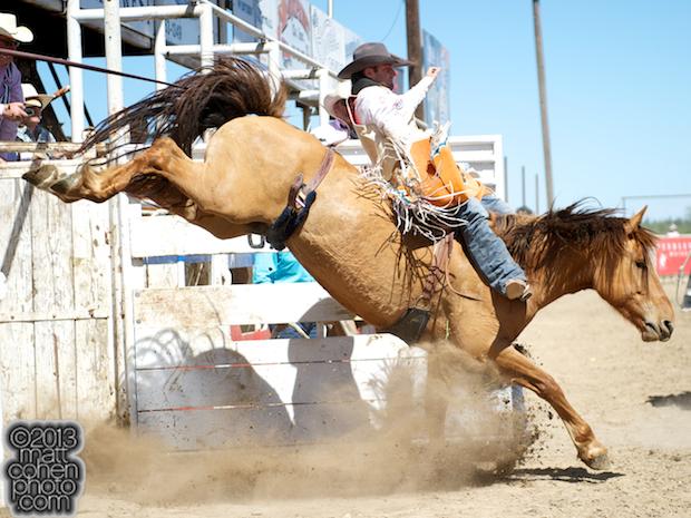 2013 NFR Bareback Riding Qualifier #13 - Casey Colletti of Pueblo, CO