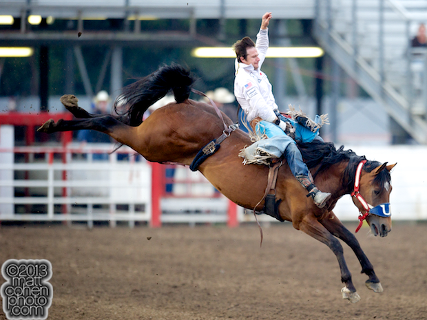 2013 NFR Bareback Riding Qualifier #12 - Clint Cannon of Waller, TX
