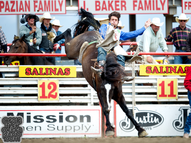 2013 NFR Bareback Riding Qualifier #15 - Caleb Bennett of Morgan, UT