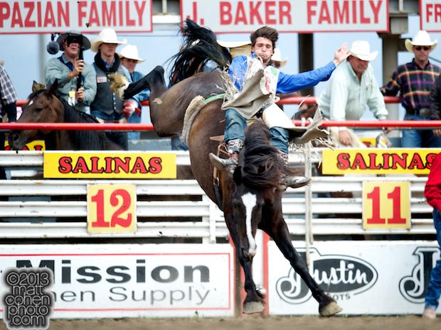 2013 NFR Bareback Riding Qualifier #15 - Caleb Bennett of Morgan, UT