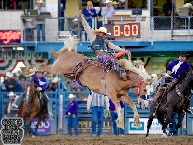 2013 NFR Bareback Riding Qualifier #1 - Cody Wright of Milford, UT