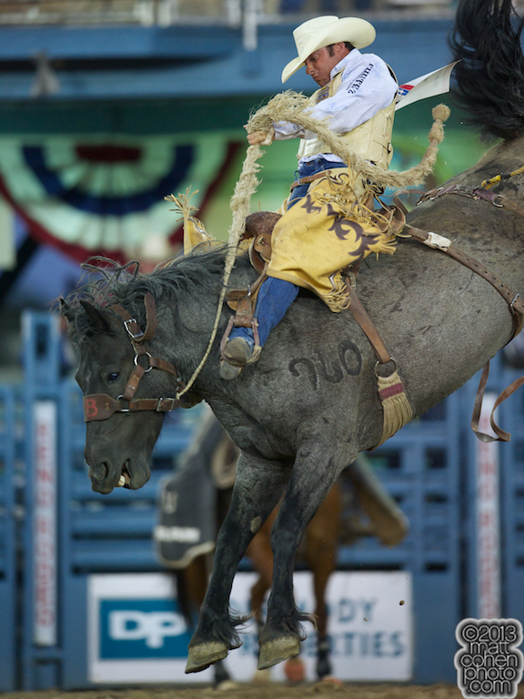 2013 NFR Bareback Riding Qualifier #3 - Chad Ferley of Oelrichs, SD