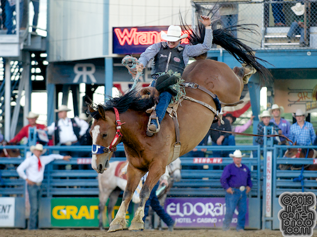 2013 NFR Bareback Riding Qualifier #5 - Jacobs Crawley of Stephenville, TX