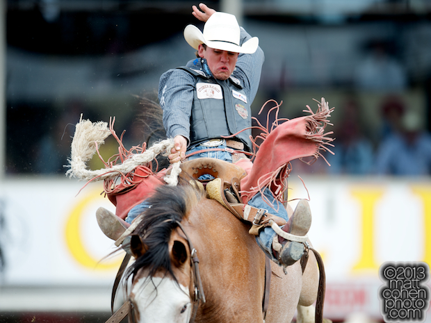 2013 NFR Bareback Riding Qualifier #10 - Cole Elshere of Faith, SD