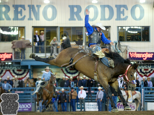 2013 NFR Bareback Riding Qualifier #11 - Taos Muncy of Corona, NM
