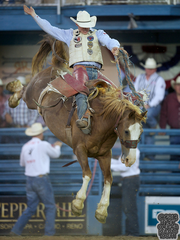 2013 NFR Bareback Riding Qualifier #12 - Chet Johnson of Sheridan, WY