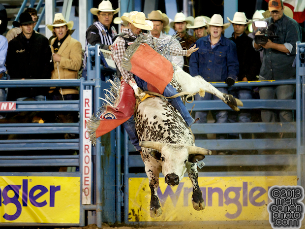 2013 NFR Bull Riding Qualifier #1 - J.W. Harris of Mullin, TX