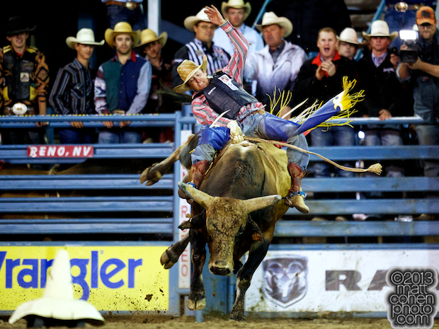 2013 NFR Bull Riding Qualifier #2 - Tyler Smith of Fruita, CO