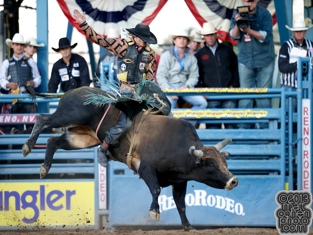 2013 NFR Bull Riding Qualifier #7 - Parker Breding of Edgar, MT