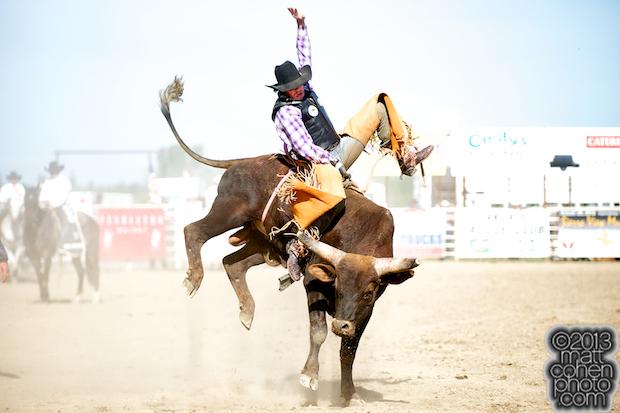 2013 NFR Bull Riding Qualifier #8 - Bull rider Trevor Kastner of Ardmore, OK