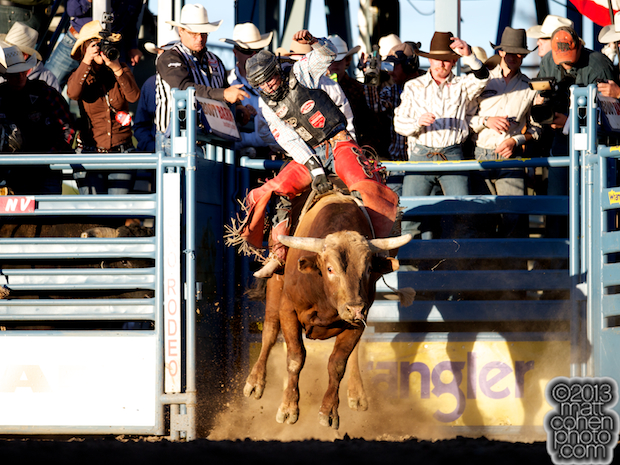 2013 NFR Bull Riding Qualifier #11 - Chandler Bownds of Lubbock, TX