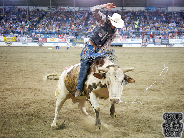2013 NFR Bull Riding Qualifier #12 - Tyler Willis of Wheatland, WY