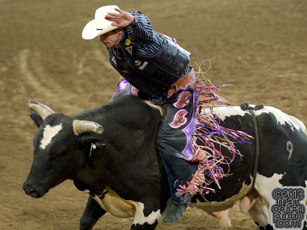 2013 NFR Bull Riding Qualifier #14 - Elliot Jacoby of Fredricksburg, TX