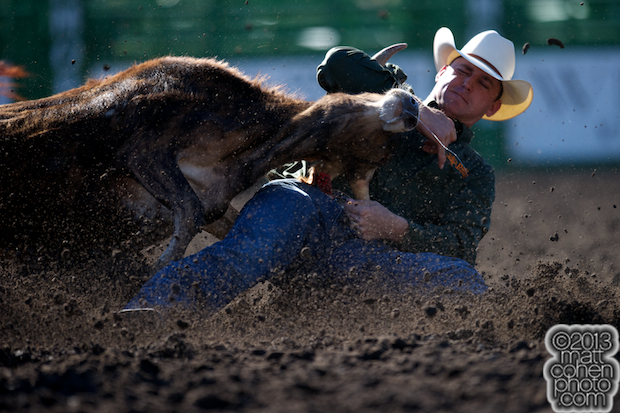 2013 NFR Steer Wrestling Qualifier #1 - Casey Martin of Sulphur, LA