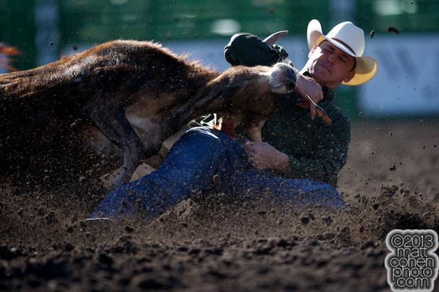 2013 NFR Steer Wrestling Qualifier #1 - Casey Martin of Sulphur, LA