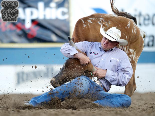 2013 NFR Steer Wrestling Qualifier #3 - Matt Reeves of Cross Plains, TX