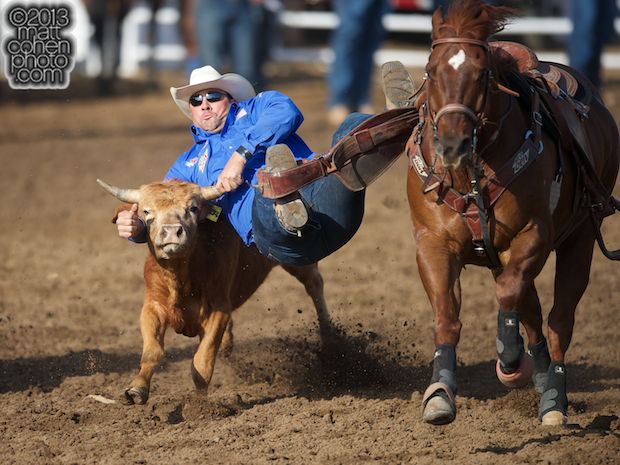 2013 NFR Steer Wrestling Qualifier #4 - Jason Miller of Lance Creek, WY