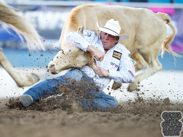 2013 NFR Steer Wrestling Qualifier #6 - K.C. Jones of Decatur, TX