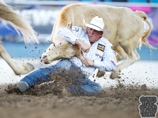 2013 NFR Steer Wrestling Qualifier #6 - K.C. Jones of Decatur, TX