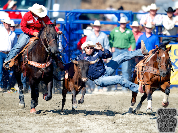 2013 NFR Steer Wrestling Qualifier #8 - Dean Gorsuch of Gering, NE