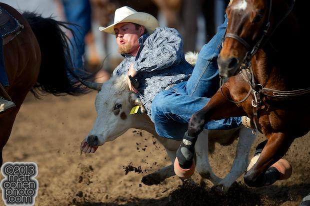 2013 NFR Steer Wrestling Qualifier #10 - Stan Branco of Chowchilla, CA