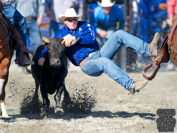 2013 NFR Steer Wrestling Qualifier #15 - Dakota Eldridge of Elko, NV