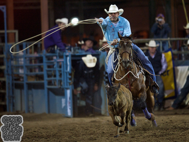 2013 NFR Tie-down Roping Qualifier #3 - Cody Ohl of Hico, TX