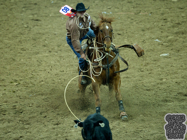 2013 NFR Tie-down Roping Qualifier #5 - Scott Kormos of Teague, TX