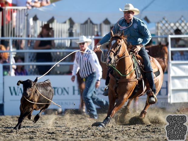 2013 NFR Tie-down Roping Qualifier #9 - Caleb Smidt of Yorktown, TX