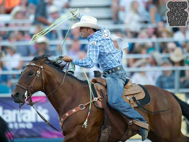 2013 NFR Team Roping (Header) Qualifier #3 - Brandon Beers of Powell Butte, OR