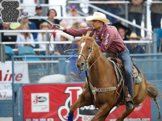 2013 NFR Team Roping (Header) Qualifier #4 - Erich Rogers of Round Rock, AZ