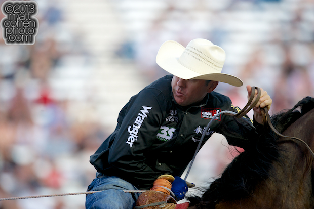 2013 NFR Team Roping (Header) Qualifier #7 - Trevor Brazile of Decatur, TX