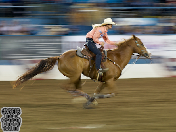 2013 NFR Barrel Racing Qualifier #1 - Sherry Cervi of Marana, AZ
