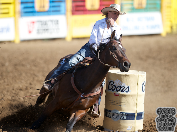 2013 NFR Barrel Racing Qualifier #2 - Mary Walker of Ennis, TX