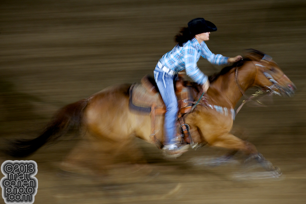 2013 NFR Barrel Racing Qualifier #4 - Christy Loflin of Franktown, CO