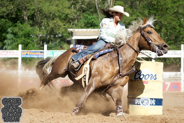 2013 NFR Barrel Racing Qualifier #7 - Brittany Pozzi of Victoria, TX