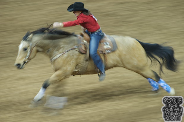 2013 NFR Barrel Racing Qualifier #9 - Lisa Lockhart of Oelrichs, SD