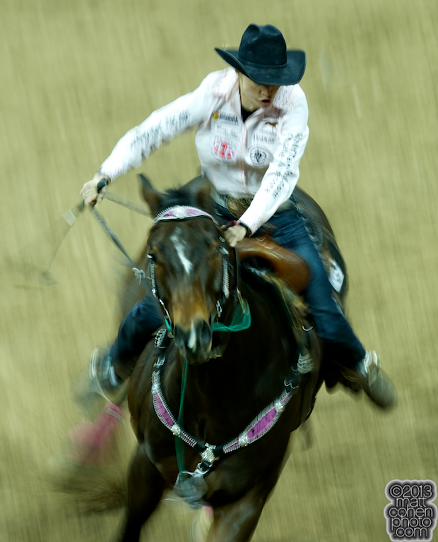 2013 NFR Barrel Racing Qualifier #11 - Jane Melby of Backus, MN