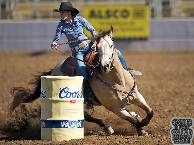 2013 NFR Barrel Racing Qualifier #14 - Sydni Blanchard of Albuquerque, NM