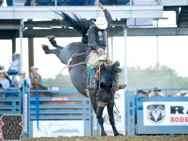 2013 NFR Saddle Bronc Stock - Feature Attraction of Big Bend Rodeo