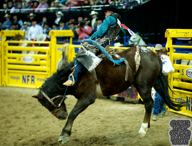 2013 NFR Saddle Bronc Stock - Miss Chestnut of Powder River Rodeo