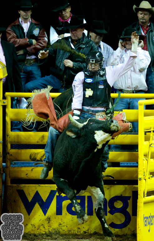 2013 NFR Bull Riding Stock - Pale Face of JK Rodeo Co